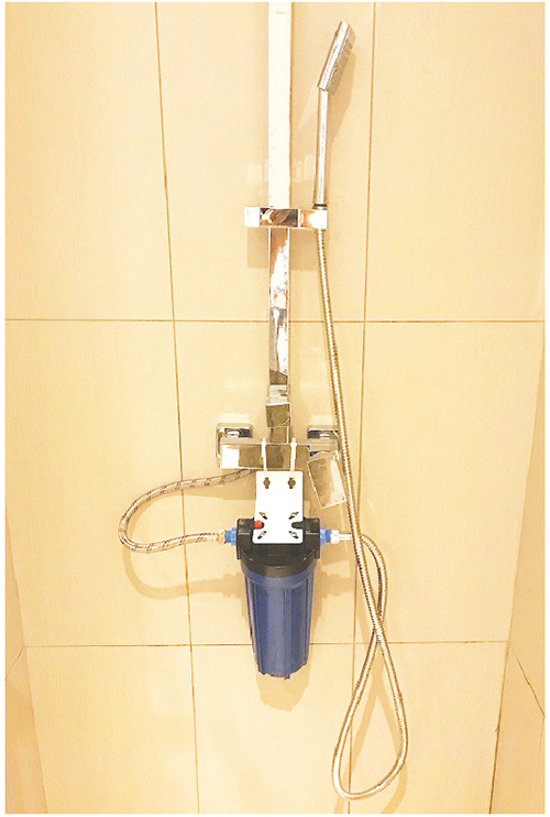 ブエノアグアのシャワー用軟水器