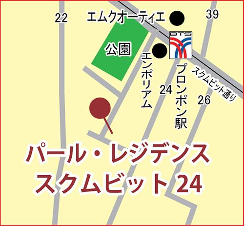 パール・レジデンス・スクムビット 24 の地図